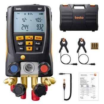 Manifold Digital Testo 557 4 Vias C/ Vacuômetro 2 Sondas Bluetooth® e Maleta